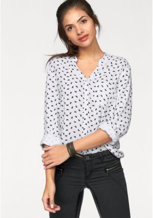 Блузка AJC. Цвет: белый/черный
