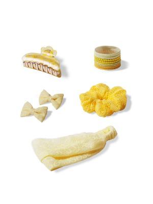 Комплект аксессуаров для волос LIGHT YELLOW ESLI. Цвет: светло-желтый