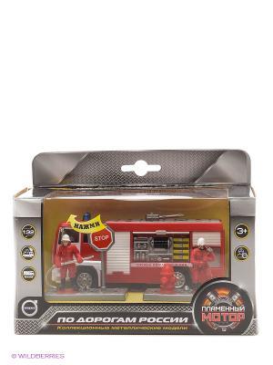 Машина мет. ин. 1:32 Служба пожаротушения, откр.двери, свет, звук Пламенный мотор. Цвет: красный