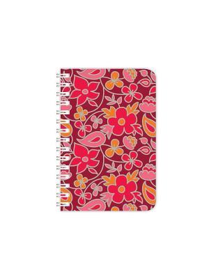 Записная книжка TWINS цветы (красно-оранж) КОНТЭНТ. Цвет: красный
