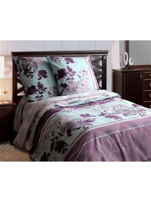 Комплект постельного белья,Евро Блакiт. Цвет: темно-бордовый, бордовый