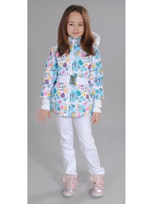 Куртка Милашка Сьюзи. Цвет: голубой