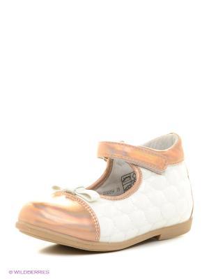 Туфли Mursu. Цвет: белый, золотистый