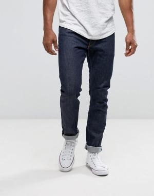 Levis Узкие джинсы прямого кроя с золотистыми строчками на кромках 50. Цвет: темно-синий