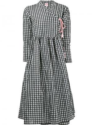 Платье с запахом Hermonie Shrimps. Цвет: чёрный