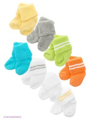 Носочки Luvable Friends. Цвет: бирюзовый, серый, оранжевый, желтый, белый