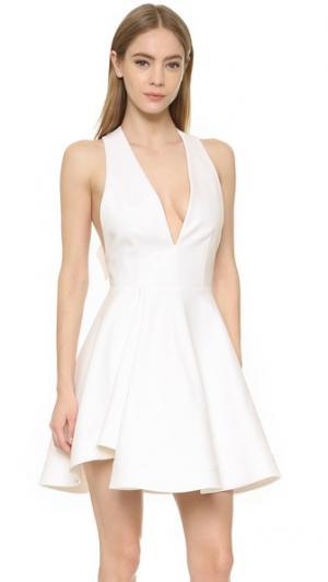 Платье с открытой спиной и бантом Cushnie Et Ochs. Цвет: белый