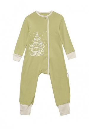 Пижама Bambinizon. Цвет: зеленый