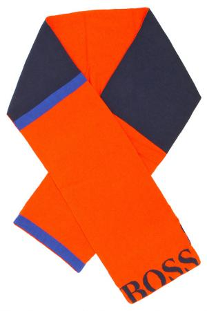 Шарф Hugo Boss. Цвет: оранжевый