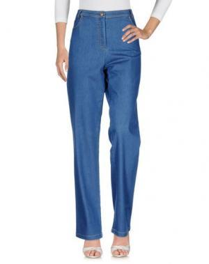 Джинсовые брюки WEILL. Цвет: синий