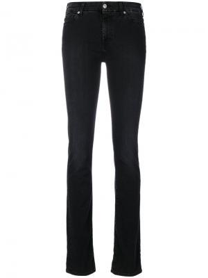 Классические облегающие джинсы 7 For All Mankind. Цвет: чёрный