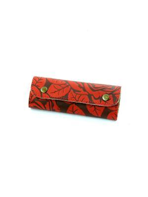 Чехол для ключей Кажан. Цвет: красный