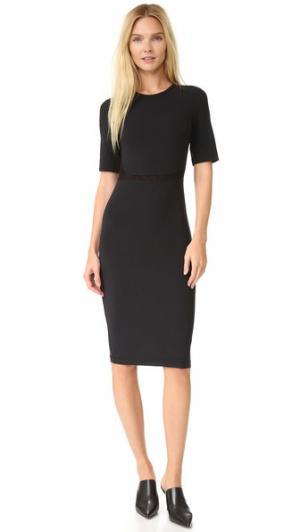 Платье с короткими рукавами Edition10. Цвет: голубой