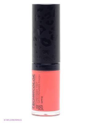 Тинт для губ и щек с пудровым эффектом SPF10, оттенок 4 Mystique Coral, 5 гр Touch in sol. Цвет: коралловый, темно-синий