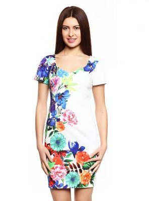 Платье TOPSANDTOPS. Цвет: молочный