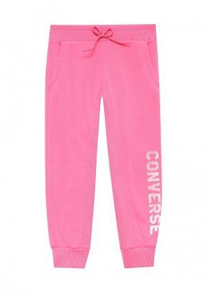 Брюки спортивные Converse. Цвет: розовый
