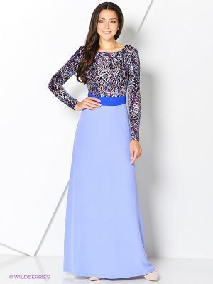 Платье MARY MEA. Цвет: сиреневый, красный, бирюзовый