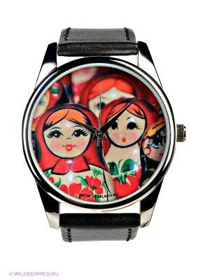 Часы Mitya Veselkov. Цвет: черный, красный