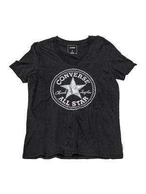 Футболка T-SHIRT Converse. Цвет: черный