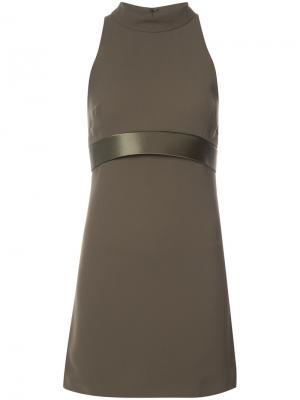 Короткое платье с вырезом халтер Brandon Maxwell. Цвет: зелёный