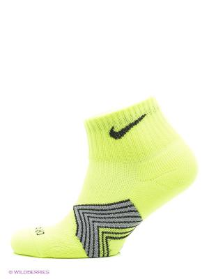 Носки RUNNING DRI FIT CUSHION DYNAMIC ARCH QUARTER Nike. Цвет: серый, салатовый