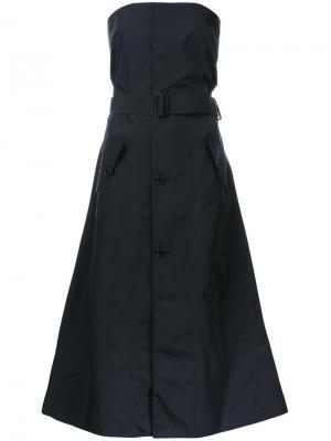 Платье без бретелек Yang Li. Цвет: чёрный