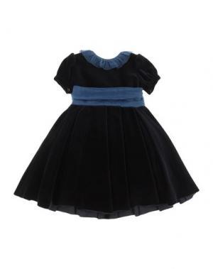 Платье LA STUPENDERIA. Цвет: темно-синий