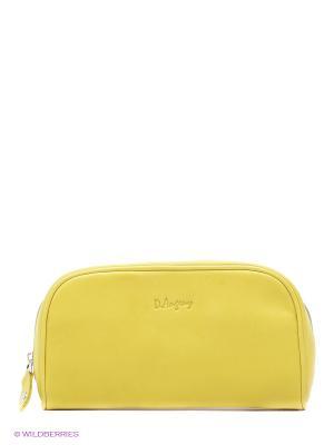 Косметичка D'Angeny. Цвет: желтый