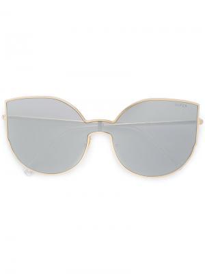 Массивные солнцезащитные очки Retrosuperfuture. Цвет: металлический