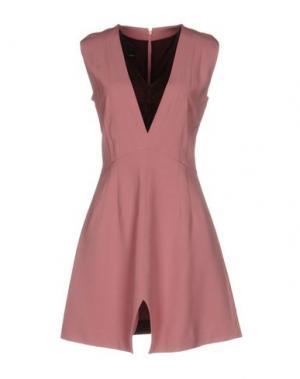 Короткое платье PINKO BLACK. Цвет: розовый