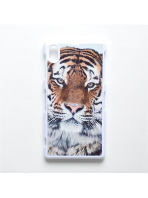 Чехол для Sony Xperia Z1 Тигр Boom Case. Цвет: черный, белый, персиковый