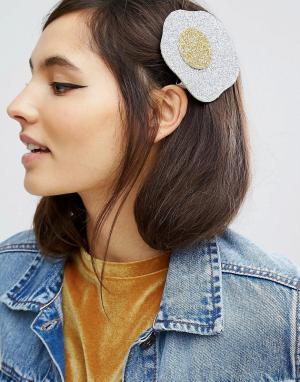 ASOS Заколка для волос ограниченной серии с блестками. Цвет: мульти