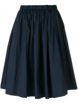 Расклешенная юбка Prada. Цвет: синий