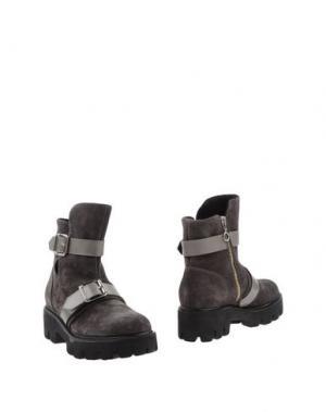 Полусапоги и высокие ботинки SGN GIANCARLO PAOLI. Цвет: свинцово-серый