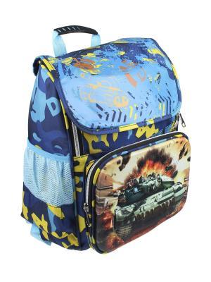 Рюкзак Olere. Цвет: синий, голубой, желтый