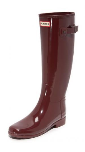 Оригинальные глянцевые сапоги Refined Hunter Boots. Цвет: бурый