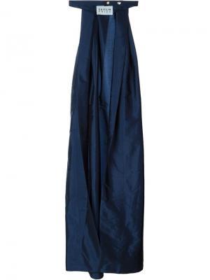 Длинная юбка с широким вырезом Caitlin Price. Цвет: синий