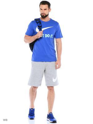 Футболка M NSW TEE JDI SWOOSH NEW Nike. Цвет: синий, голубой, белый