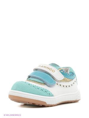 Ботинки Flamingo. Цвет: белый, голубой