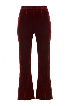 Бархатные брюки Connor Roland Mouret. Цвет: бордовый