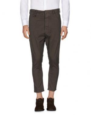 Повседневные брюки NOSTRASANTISSIMA. Цвет: темно-коричневый