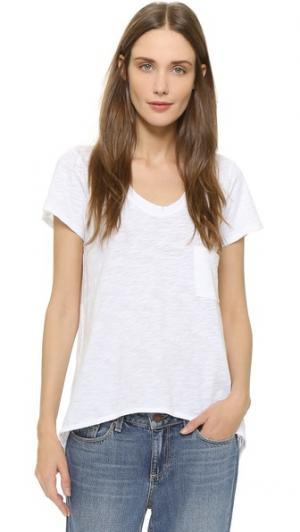 Винтажная футболка с напуском и V-образным вырезом Wilt. Цвет: белый