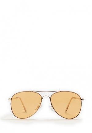 Очки солнцезащитные Mango. Цвет: золотой