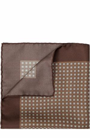 Шелковый платок с принтом Tom Ford. Цвет: темно-бежевый