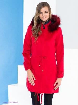 Пальто Say. Цвет: красный