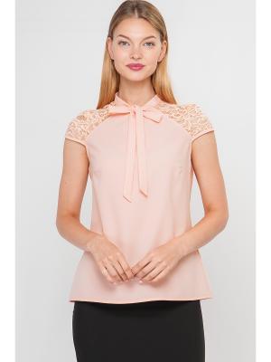Блузка Limonti. Цвет: розовый