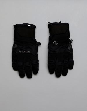 Volcom Перчатки с прочной нескользящей отделкой на ладонях. Цвет: черный