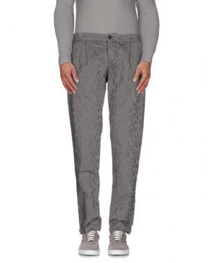 Повседневные брюки MONOCROM. Цвет: серый