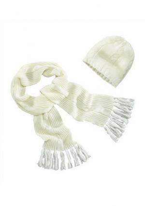 Комплект: шапка и шарф Colors for Life. Цвет: темно-серый