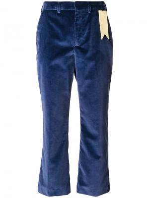 Укороченные брюки The Gigi. Цвет: синий
